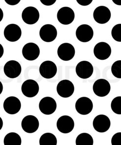 gavepapir hvid/ sort cirkler