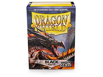 Dragon Shield sleeve-black matte-non glare